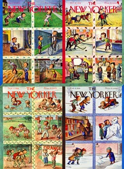 Seasonal Scenes (The New Yorker) Collage Jigsaw Puzzle