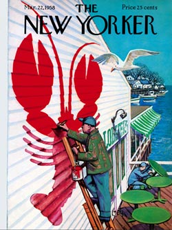 Seaside Cafe' (The New Yorker) Magazines and Newspapers Jigsaw Puzzle