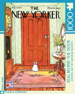 Dog Behind the Door Domestic Scene Jigsaw Puzzle