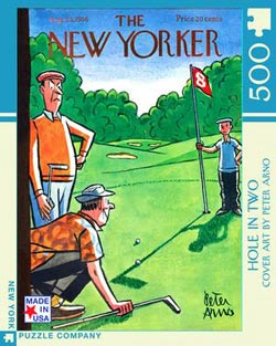 Hole in Two (The New Yorker) Sports Jigsaw Puzzle