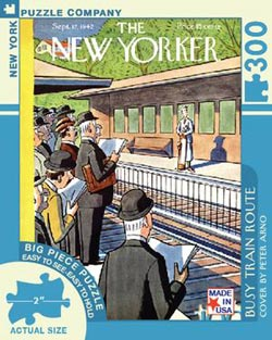 Busy Train Route (The New Yorker) Trains Large Piece