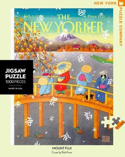 Mount Fuji in Fall (The New Yorker) - Scratch and Dent Lakes / Rivers / Streams Jigsaw Puzzle
