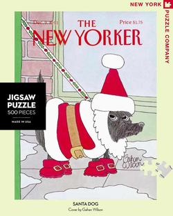 Santa's Dog (The New Yorker) Santa Jigsaw Puzzle