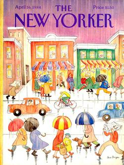 Rainy Day (The New Yorker) Nostalgic / Retro Jigsaw Puzzle