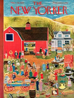 Farm Auction (The New Yorker) Nostalgic / Retro Jigsaw Puzzle