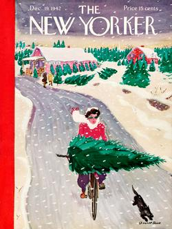 Tree Shopping (The New Yorker) - Scratch and Dent Snow Jigsaw Puzzle