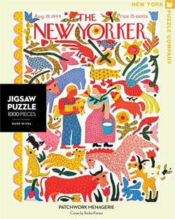 Patchwork Menagerie (The New Yorker) Magazines and Newspapers Jigsaw Puzzle
