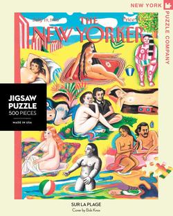 Sur La Plage (The New Yorker) People Jigsaw Puzzle