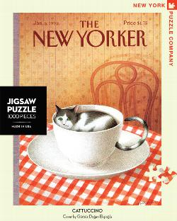 Cattuccino (The New Yorker) Nostalgic / Retro Jigsaw Puzzle