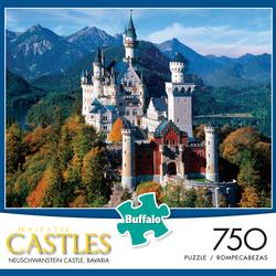 Neuschwanstein Castle (Majestic Castles) Mountains Jigsaw Puzzle