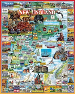 The Best of New England Maps / Geography Jigsaw Puzzle