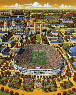 Fighting Irish of Notre Dame Americana & Folk Art Jigsaw Puzzle