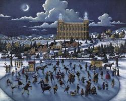 Olsen Park Folk Art Jigsaw Puzzle