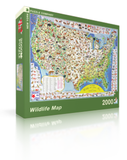 Wildlife Map United States Jigsaw Puzzle