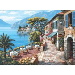 The Overlook Café II Seascape / Coastal Living Jigsaw Puzzle