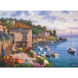 Harbour Garden Seascape / Coastal Living Jigsaw Puzzle