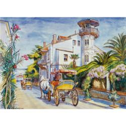 Café Terrace Vehicles Jigsaw Puzzle