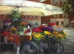 Spring in the Basket Street Scene Jigsaw Puzzle