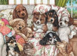 Puppies Domestic Scene Jigsaw Puzzle