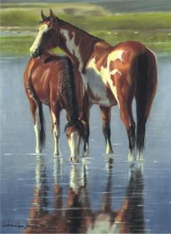 Water Colors Horses Jigsaw Puzzle