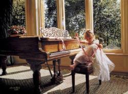 Piano Ballerina Dance Jigsaw Puzzle