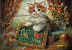 Teachers Cat Kittens Jigsaw Puzzle