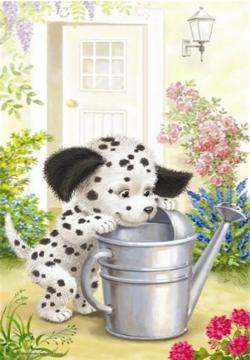 Naughty Dalmation Garden Jigsaw Puzzle