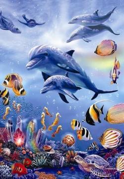 Seahorse Kingdom Fish Jigsaw Puzzle