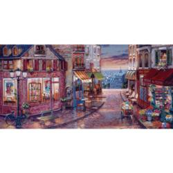 Twilight View Street Scene Jigsaw Puzzle