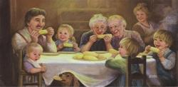 Dinner Time Domestic Scene Jigsaw Puzzle