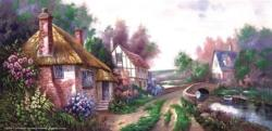 Holly Village Road Flowers Jigsaw Puzzle