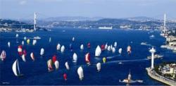Sailing Race at Bosphorus Seascape / Coastal Living Jigsaw Puzzle