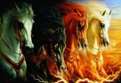 The Four Horses of the Apocalypse Horses Jigsaw Puzzle