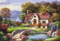 Stone Bridge Cottage Cottage/Cabin Jigsaw Puzzle