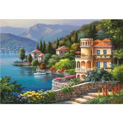 Lakeside Villa Mountains Jigsaw Puzzle