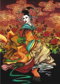 Geisha People Jigsaw Puzzle