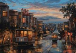 Cable Car Heaven Nostalgic / Retro Jigsaw Puzzle