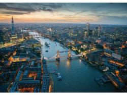 London at Night Bridges Jigsaw Puzzle