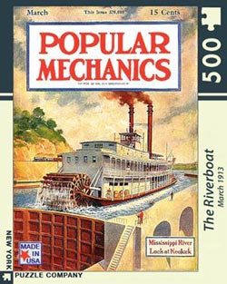 The Steamboat (Popular Mechanics) Nostalgic / Retro Jigsaw Puzzle