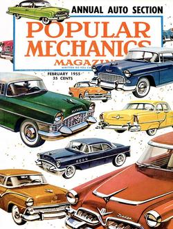 Cars of the 1950s (Popular Mechanics) Magazines and Newspapers Large Piece