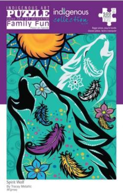 Spirit Wolf Native American Jigsaw Puzzle