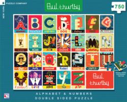 Alphabet & Numbers - Double Sided Puzzle (Paul Thurlby) Educational Double Sided