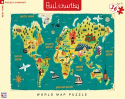 World Map Travel Jigsaw Puzzle