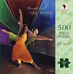 Blessed and Favored Contemporary & Modern Art Jigsaw Puzzle