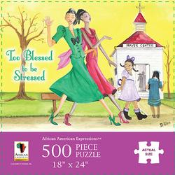 Too Blessed To Be Stressed Churches Jigsaw Puzzle