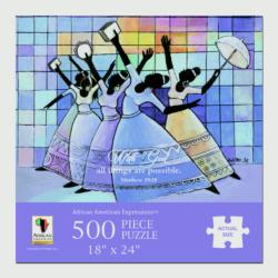 With God All Things Are Possible Contemporary & Modern Art Jigsaw Puzzle
