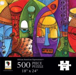 Jazz Masks African American Jigsaw Puzzle