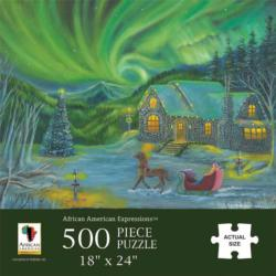 Northern Lights Snow Jigsaw Puzzle