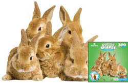 Row of Bunnies Other Animals Jigsaw Puzzle