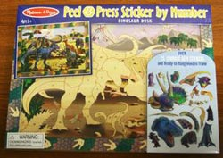 Peel and Press - Dinosaur Dusk Dinosaurs Activity Books and Stickers